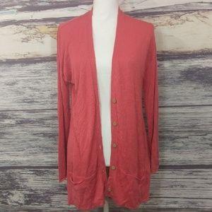 J.Jill pink long cardigan size medium